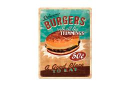chapas de hamburguesa antiguas